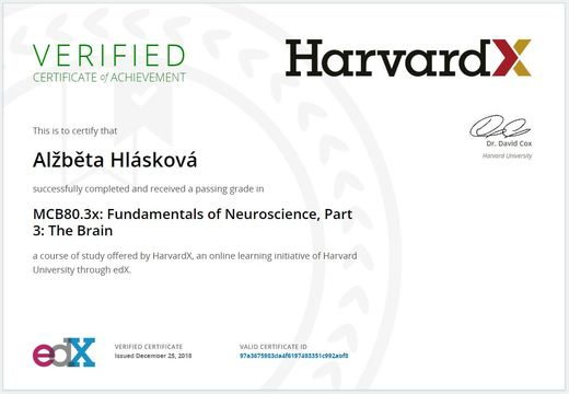 Harvard_Neuroscience_certifikát